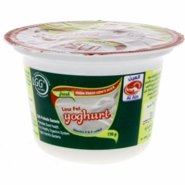 صورة AL AIN LOW FAT YOGHURT 170GM