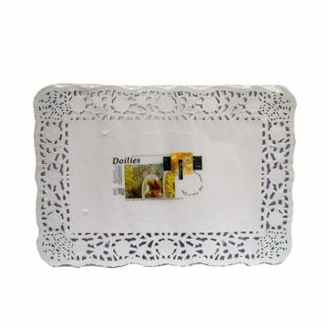 """Picture of FUN 10*14.5"""" RECT.DOILIES 250s"""