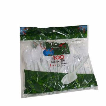 Picture of FUN WHT PLASTIC TEASPOON 100s