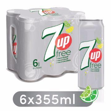 صورة 7UP FREE SW CANS 6X355ML