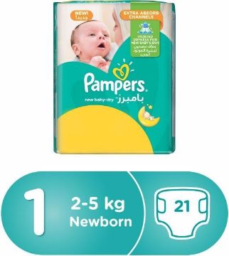 صورة PAMPERS NB M3P S1 21'S CP