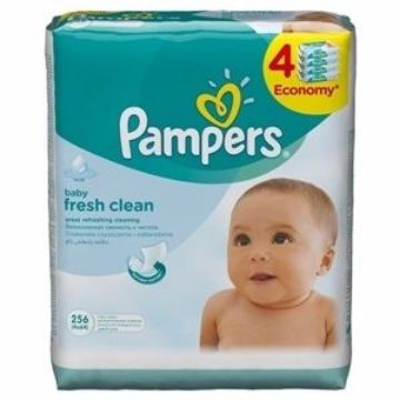 Picture of PAMPERS BABYWIPES FRESH 3+1 64