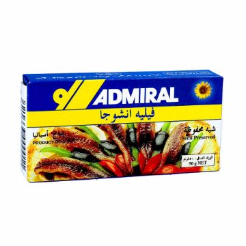 Picture of ADMIRAL ANCHOVY FLT IN OIL50G