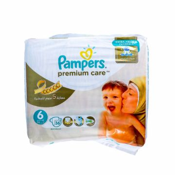 صورة PAMPERS PRMUM CAR SIZE6 VP 36S