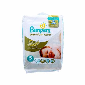 صورة PAMPERS PRMUM CAR SIZE5 CP 20S