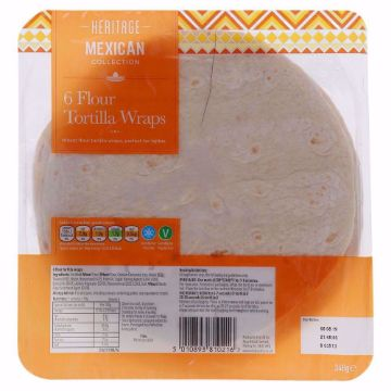 Picture of HERITAGE TORTILLA WRAPS 348G
