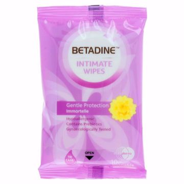Picture of BETADINE INTIMAT WIPES GNTL PROTCTION10S